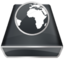 64x64px size png icon of Black Server