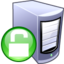 64x64px size png icon of Unlock server