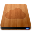 64x64px size png icon of iDisk   Wood