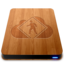 64x64px size png icon of iDisk User   Wood