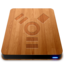 64x64px size png icon of Wooden Slick Drives   Firewire