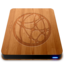 64x64px size png icon of Wooden Slick Drives   Server