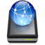 64x64px size png icon of Rev2 Drive Black iDisk