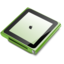 64x64px size png icon of iPod nano green