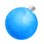 64x64px size png icon of Christmas ball blue