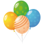 64x64px size png icon of balloons