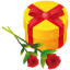 64x64px size png icon of gift rose