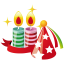 64x64px size png icon of party hat candles
