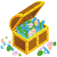 64x64px size png icon of treasure chest open