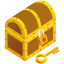 64x64px size png icon of treasure chest