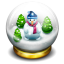 64x64px size png icon of glass snow ball