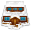 64x64px size png icon of house with snow