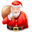 64x64px size png icon of santa claus