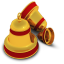 64x64px size png icon of Xmas Bells