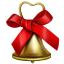 64x64px size png icon of christmas bell