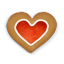 64x64px size png icon of christmas cookie heart