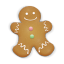64x64px size png icon of christmas cookie man
