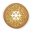 64x64px size png icon of christmas cookie round