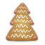 64x64px size png icon of christmas cookie tree 2