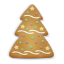 64x64px size png icon of christmas cookie tree