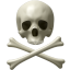 64x64px size png icon of Skull and bones