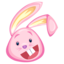 64x64px size png icon of pink rabbit