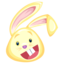 64x64px size png icon of yellow rabbit
