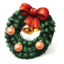 64x64px size png icon of christmas wreath