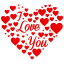 64x64px size png icon of Heart I Love You