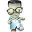 64x64px size png icon of geek zombie
