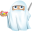 64x64px size png icon of ninja ghost
