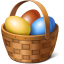 64x64px size png icon of egg basket