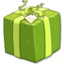 64x64px size png icon of Shiny Green Present