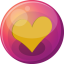 64x64px size png icon of heart orange 1