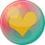 64x64px size png icon of heart orange 2
