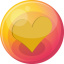64x64px size png icon of heart orange 4