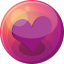 64x64px size png icon of heart purple 1