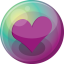 64x64px size png icon of heart purple 3