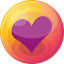 64x64px size png icon of heart purple 4