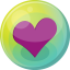 64x64px size png icon of heart purple 5