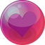 64x64px size png icon of heart purple 6