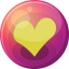 64x64px size png icon of heart yellow 1