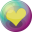 64x64px size png icon of heart yellow 3