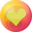 64x64px size png icon of heart yellow 4