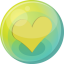 64x64px size png icon of heart yellow 5