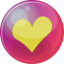 64x64px size png icon of heart yellow 6