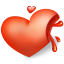 64x64px size png icon of heart blood