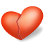 64x64px size png icon of heart broken