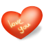 64x64px size png icon of heart love you