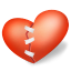 64x64px size png icon of heart patched